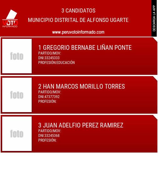 Municipio distrital de ALFONSO UGARTE