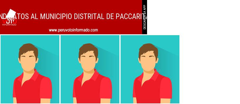 Municipio distrital de PACCARITAMBO