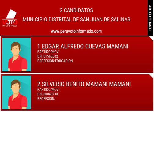 Municipio distrital de SAN JUAN DE SALINAS