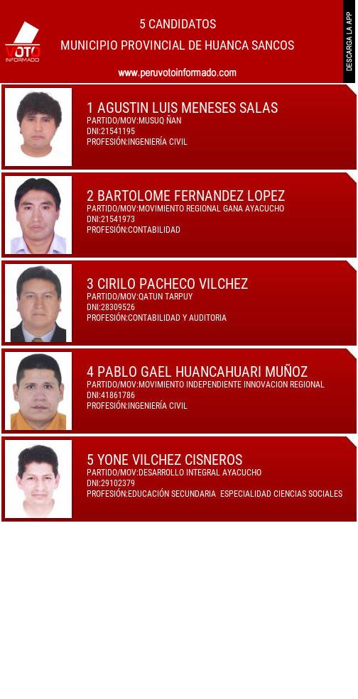 Municipio provincial de HUANCA SANCOS