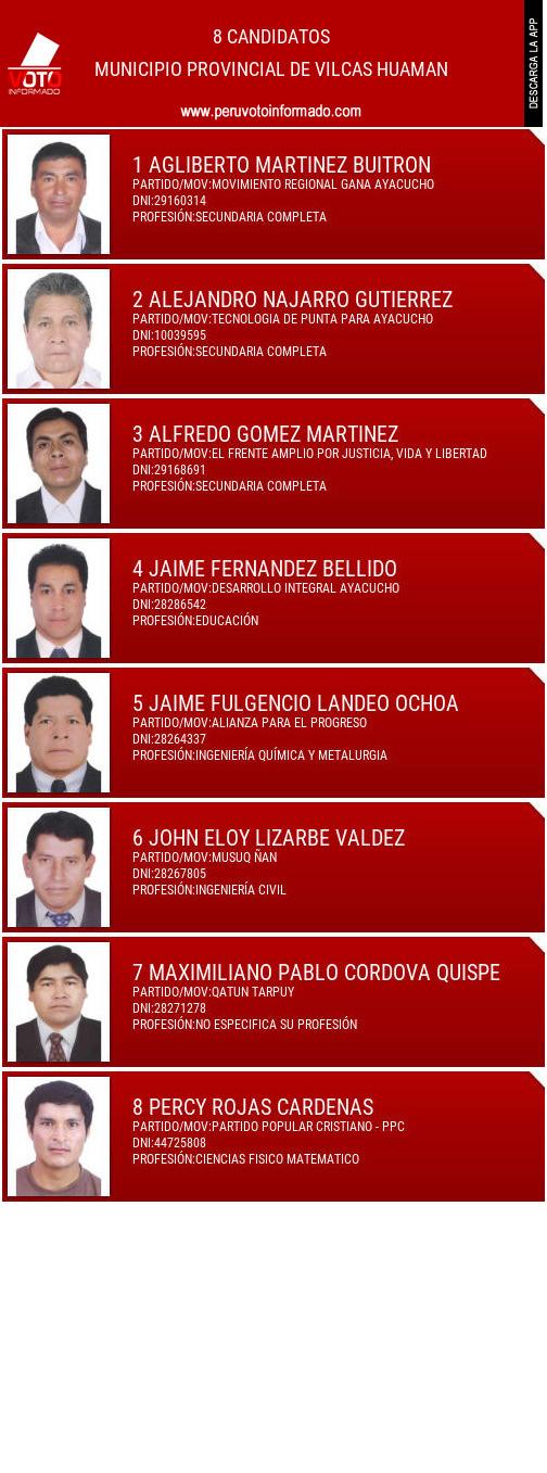 Municipio provincial de VILCAS HUAMAN