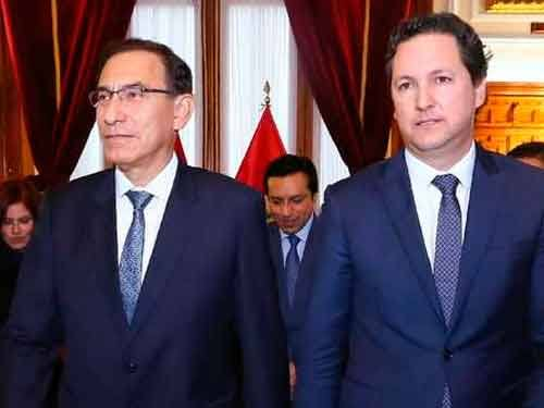 Daniel Salaverry tiene reunión con Martin Vizcarra en Palacio de Gobierno