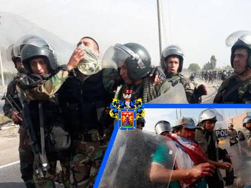 Tanto pobladores y policías heridos en desbloqueo de vía en Arequipa