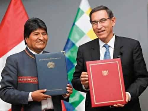 Un total de 12 acuerdos se firmaron con Bolivia con Perú